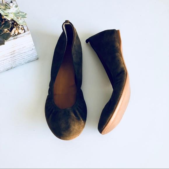 a0463e52b4 J. Crew Shoes   J Crew Cece Suede Ballet Flats Olive Green   Poshmark